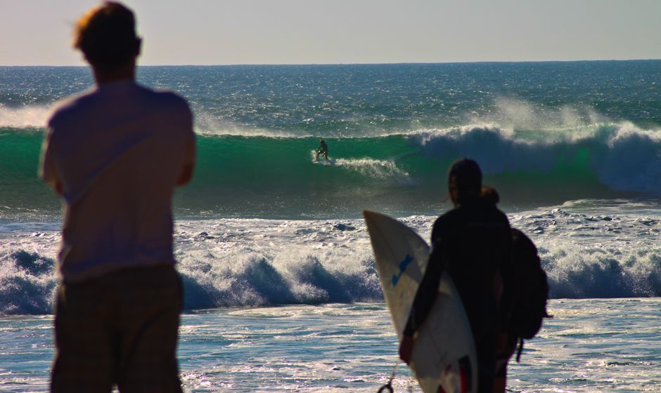Watching the surfers in Taghazoute Morocco