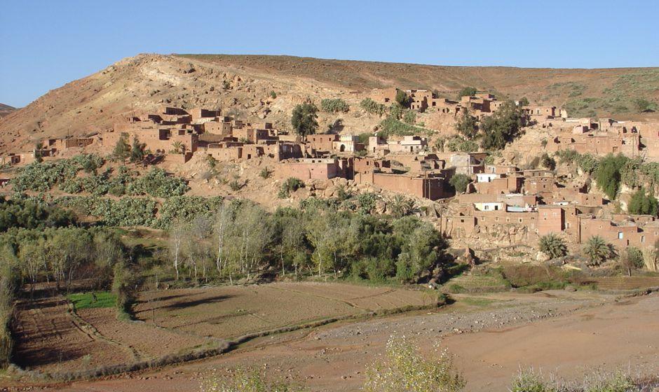Asni market town Atlas mountains Morocco