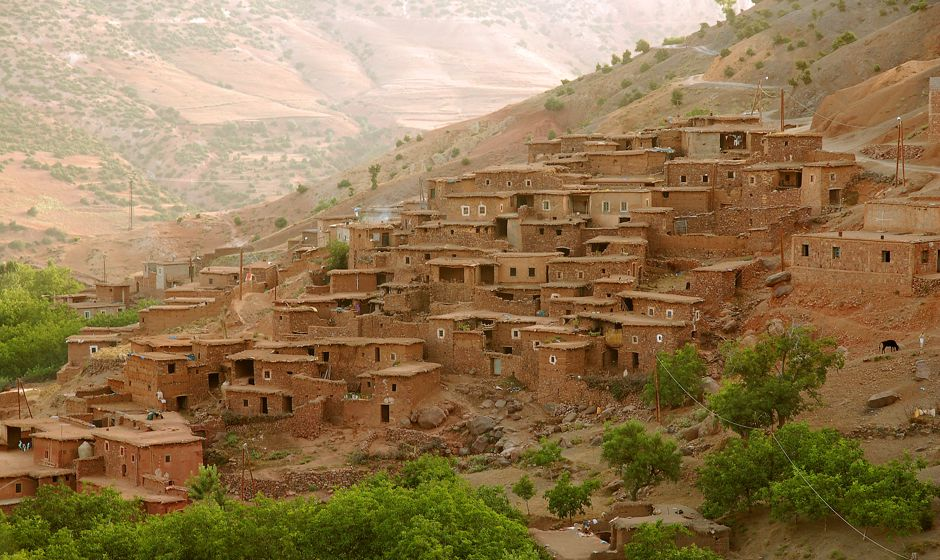 Imlil village great for trekking in Atlas mountains Morocco