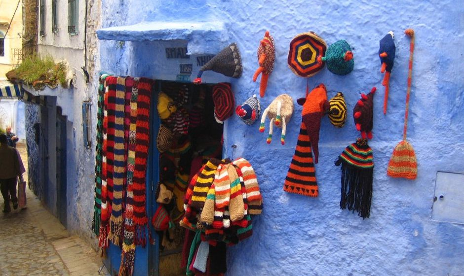 chefchaouen rif mountains morocco shopping