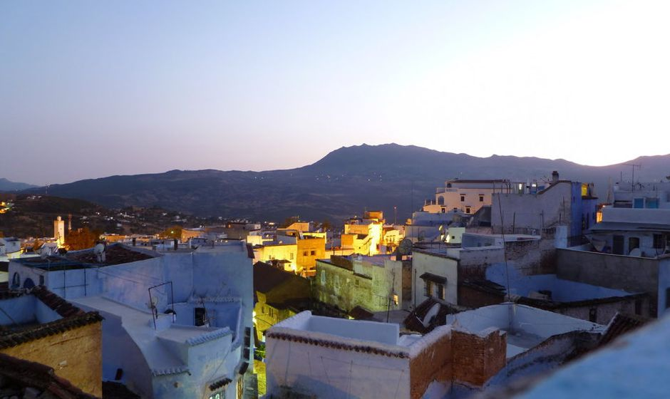 chefchaouen rif mountains morocco sunset