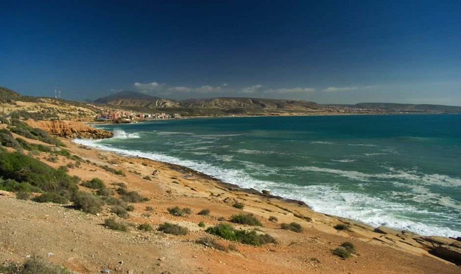 Coastline north of Agadir Morocco ideal beach holidays