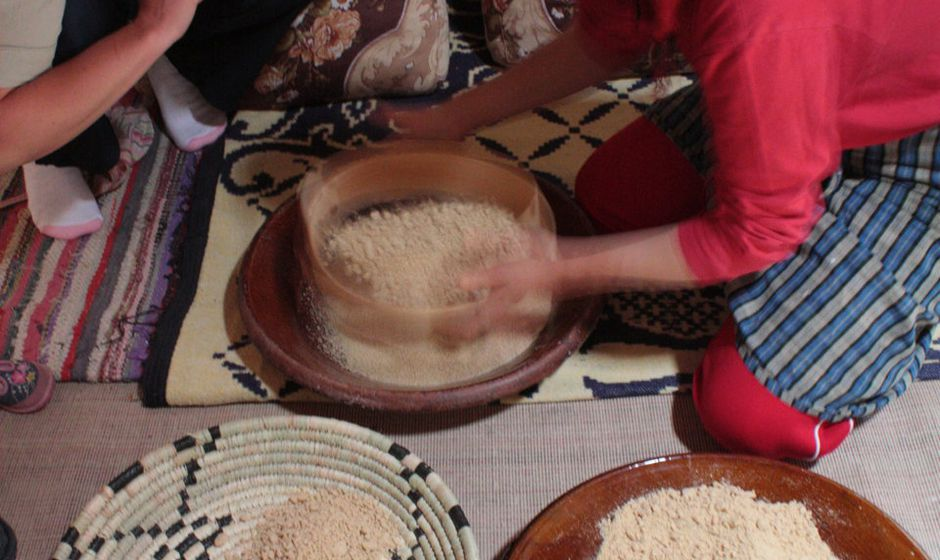 Traditional Moroccan cooking day with a family