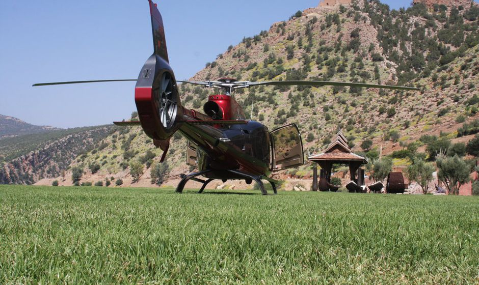 Helicopter charter excursions transfers Morocco