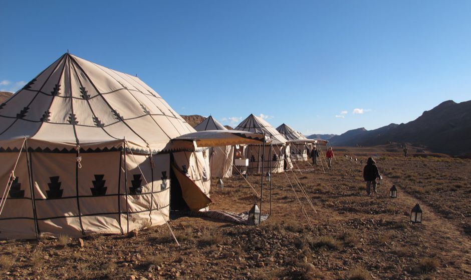 trekking trek atlas mountains high middle low morocco holiday walking tents