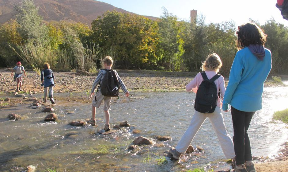 trekking trek atlas mountains high middle low morocco holiday walking children