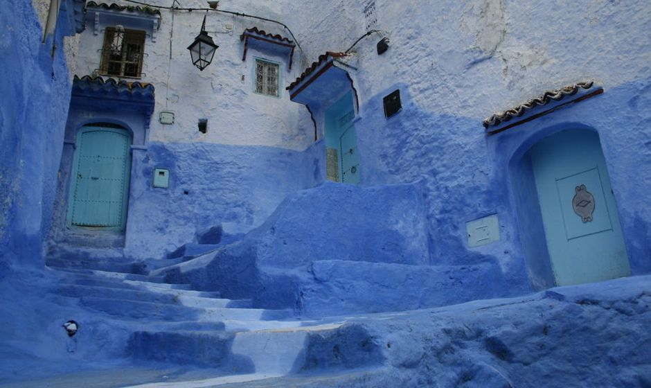 chefchaouen rif mountains morocco street