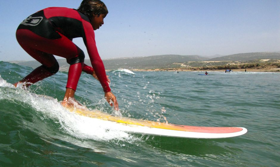 learning to surf in Taghazoute Morocco
