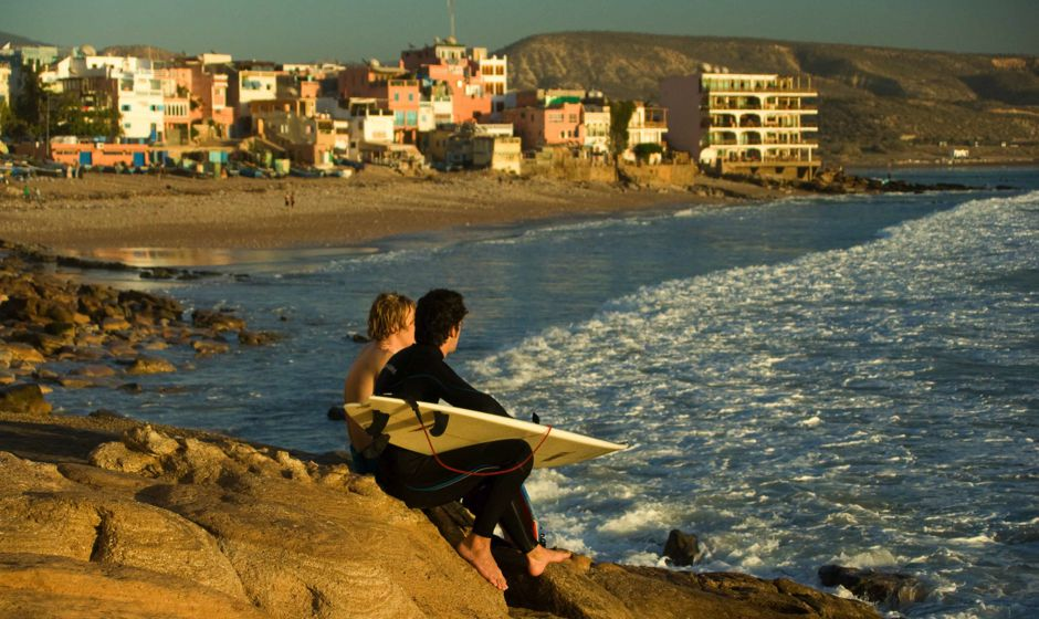 Taghazoute surf village in Morocco