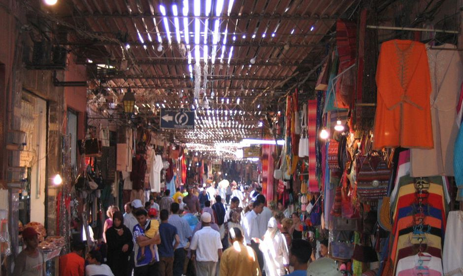 Shopping in the souks of Marrakech MOROCCO