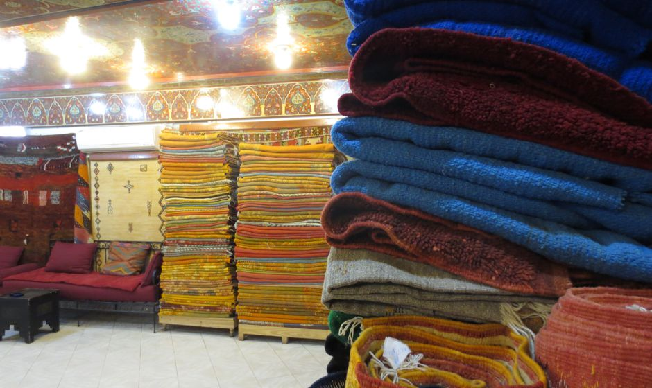 Shopping in Morocco.