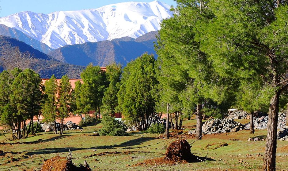 Ouirgane in the high atlas mountains Morocco