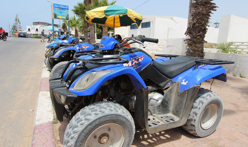 Quad Biking on the beach in Oualidia Morocco