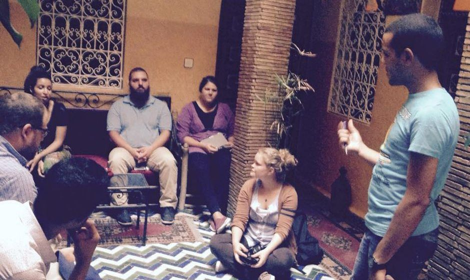 Story telling in Marrakech
