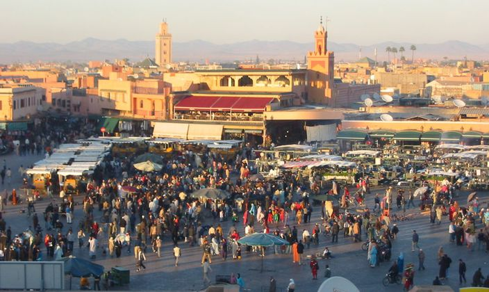 jma el fna square Marrakech Morocco