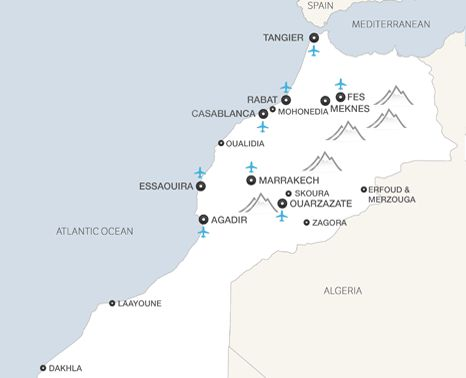 Morocco Holiday Map