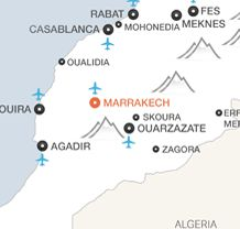 Map of Marrakech Morocco