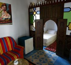 casa hassan chefchaouen morocco room