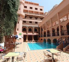 The pool at Hotel Oudaya, Marrakech, Morocco