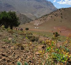 trekking in the Atlas mountains Morocco