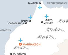 Marrakech map