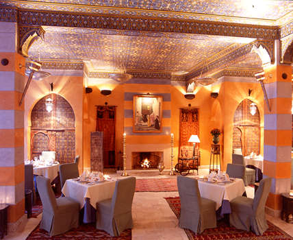 Marrakech restaurants lawrence of morocco - Decoration maison arabe ...